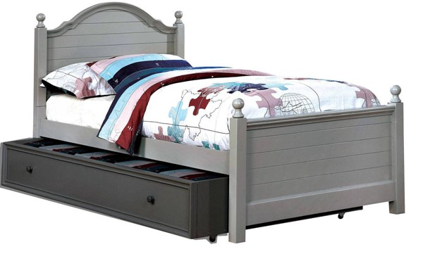 Furniture of America Diane Gray Twin Bed FOA-CM7158GY-T-BED