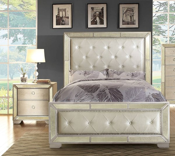 Furniture of America Loraine 2pc Bedroom Set with King Bed FOA-CM7195K-BR-S2