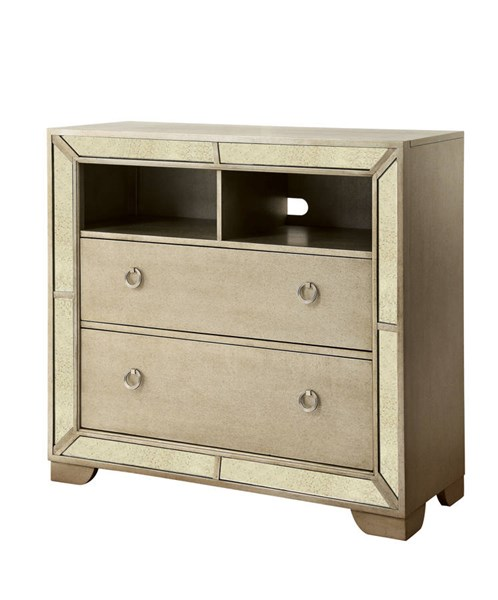 Furniture Of America Loraine Champagne Media Chest FOA-CM7195TV