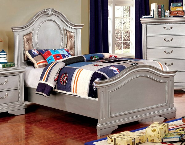 Furniture Of America Claudia Tufted Twin Bed FOA-CM7199L-T-BED