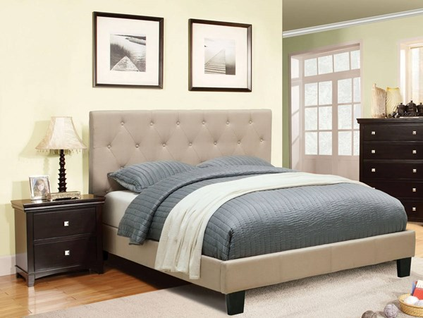 Furniture of America Leeroy Ivory 2pc Bedroom Set with Twin Bed FOA-CM7200-7113T-IV-BR-S5