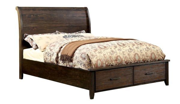 Ribeira Contemporary Espresso Solid Wood Beds FOA-CM7252-BED-VAR