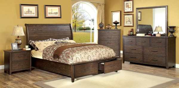Furniture of America Ribeira Master Bedroom Set FOA-CM7252-BR