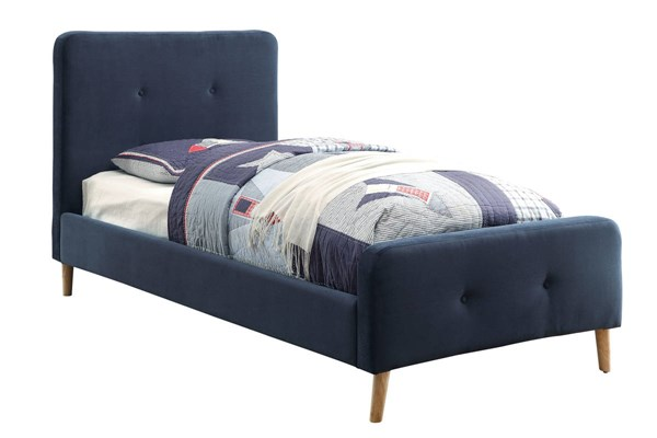Furniture of America Barney Navy Twin Bed FOA-CM7272NV-T-BED