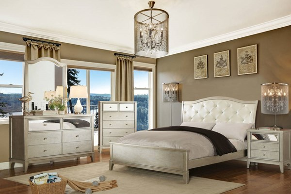 Furniture of America Adeline Master Bedroom Set FOA-CM7282-BR