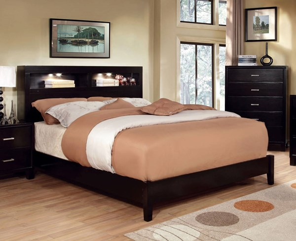 Furniture of America Gerico I Espresso King Bed FOA-CM7290EX-EK-BED
