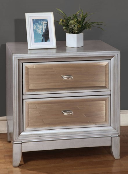 Furniture Of America Golva Silver Night Stand FOA-CM7295SV-N