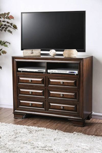 Furniture of America Brandt Brown Cherry Media Chest FOA-CM7302CH-TV