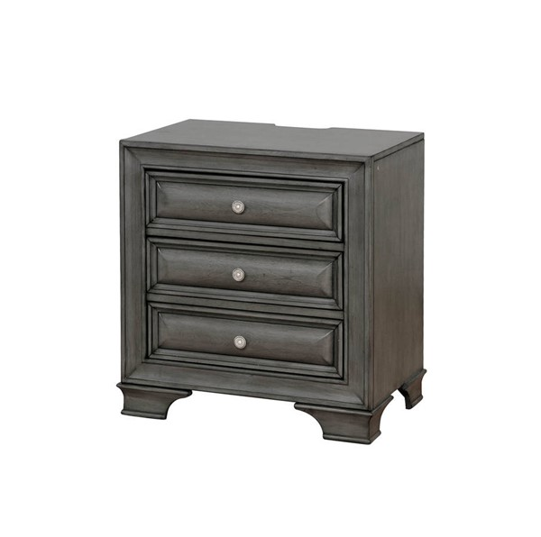 Furniture of America Brandt Gray Night Stand FOA-CM7302GY-N