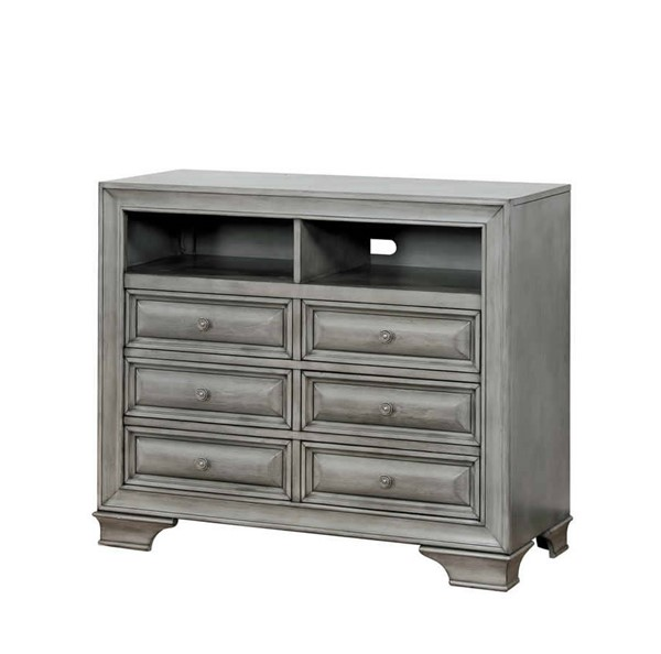 Furniture of America Brandt Gray Media Chest FOA-CM7302GY-TV