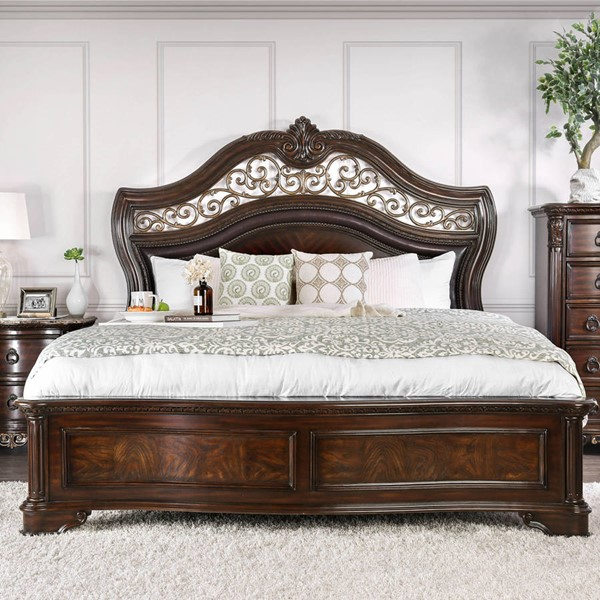 Furniture of America Menodora Brown Cherry Beds FOA-CM7311-BED-VAR