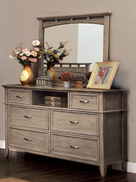 Furniture of America Loxley Dresser and Mirror FOA-CM7351-DRMR