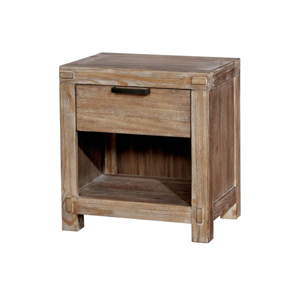 Furniture of America Wynton Light Oak Night Stand FOA-CM7360N
