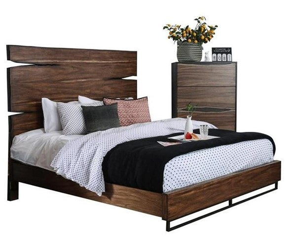 Furniture of America Fulton Walnut Queen Bed FOA-CM7363Q-BED