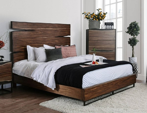 Furniture of America Fulton Walnut Cal King Bed FOA-CM7363CK-BED