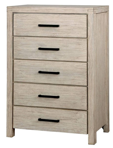 Furniture of America Strasburg Brushed White Chest FOA-CM7382WH-C