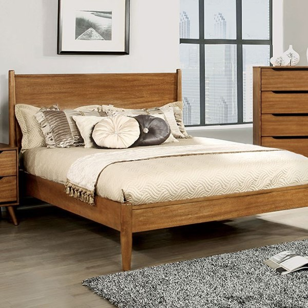 Lennart Modern Oak Gray Solid Wood Veneer Beds FOA-CM7386-BED-VAR