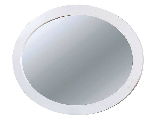 Furniture of America Lennart II White Oval Mirror FOA-CM7386WH-MO
