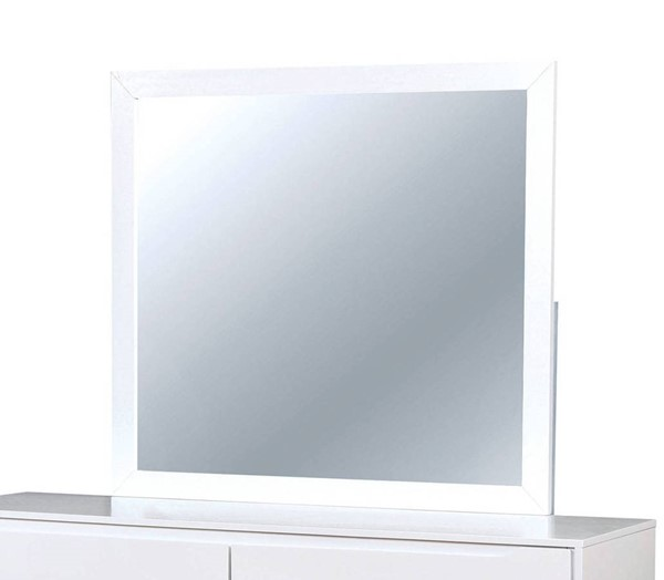 Furniture of America Lennart II White Mirror FOA-CM7386WH-M