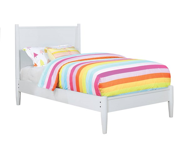 Furniture of America Lennart II White Twin Bed FOA-CM7386WH-T-BED