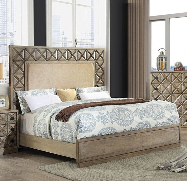 Furniture of America Markos Light Oak Queen Bed FOA-CM7393Q-BED