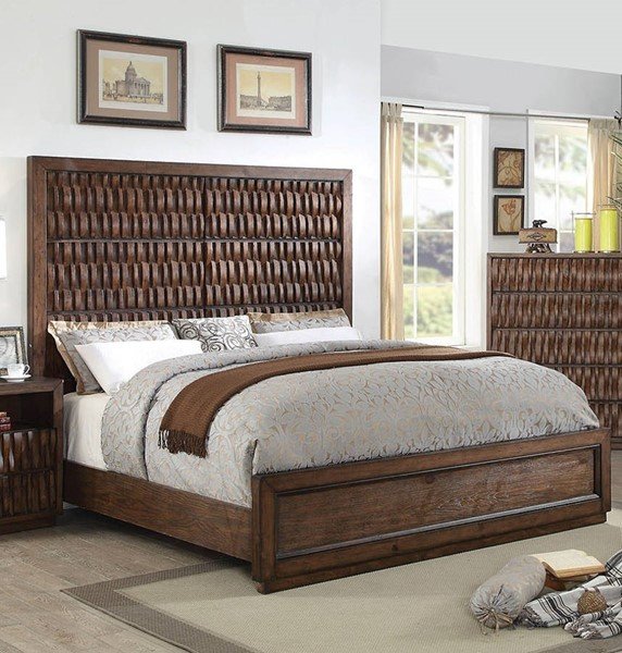 Furniture of America Eutropia Chestnut Cal King Bed FOA-CM7394CK-BED