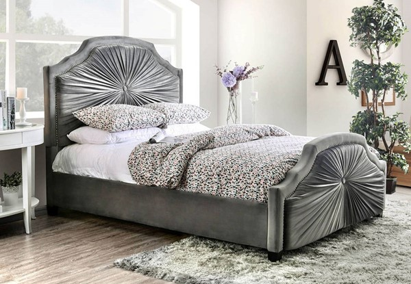 Furniture of America Coraline Gray Beds FOA-CM7398-BED-VAR