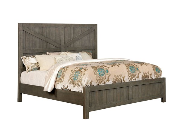 Furniture of America Brenna Gray King Bed FOA-CM7435GY-EK-BED