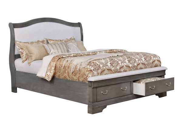 Furniture of America Merida Gray Cal King Bed FOA-CM7504GY-CK-BED