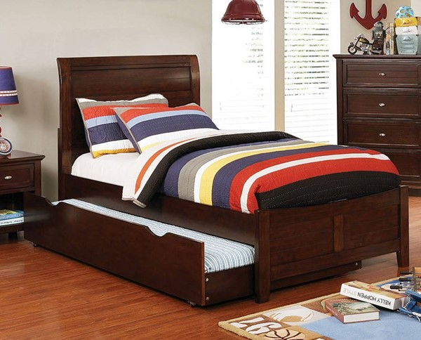 Furniture of America Brogan Cherry Full Trundle Bed FOA-CM7517CH-F-TR-BED