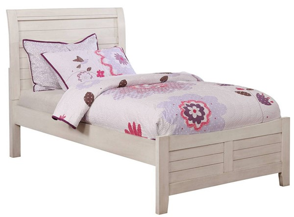 Furniture of America Brogan Antique White Twin Bed FOA-CM7517WH-T-BED