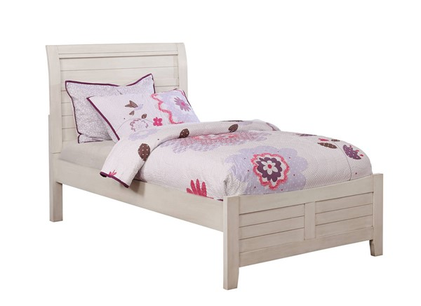 Furniture of America Brogan White Twin Bed FOA-CM7517WH-T-BED