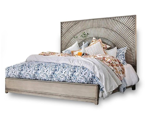 Furniture of America Kamalah Antique Gray King Bed FOA-CM7521EK-BED