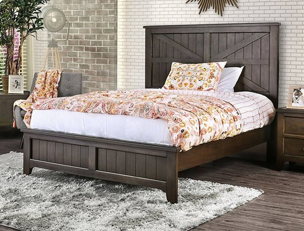 Furniture of America Westhope Dark Walnut Beds FOA-CM7523-BED-VAR