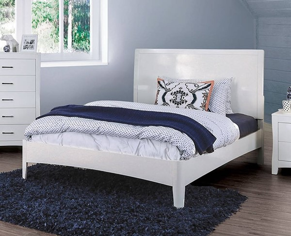 Furniture of America Deanne White Full Bed FOA-CM7527WH-F-BED