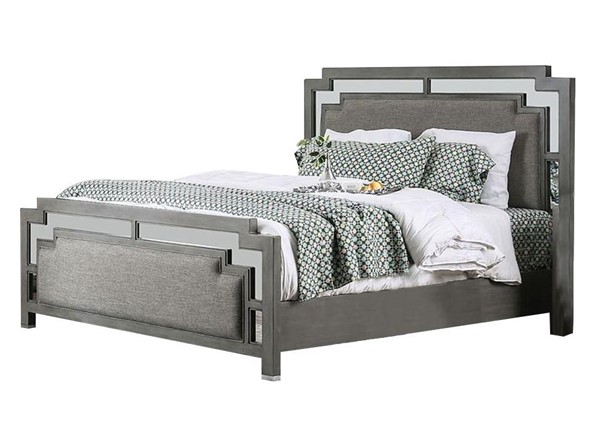 Furniture of America Jeanine Gray Queen Bed FOA-CM7534Q-BED