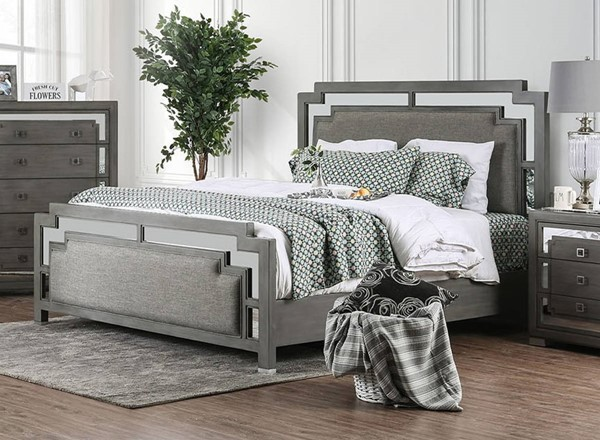 Furniture of America Jeanine Gray Beds FOA-CM7534-BED-VAR