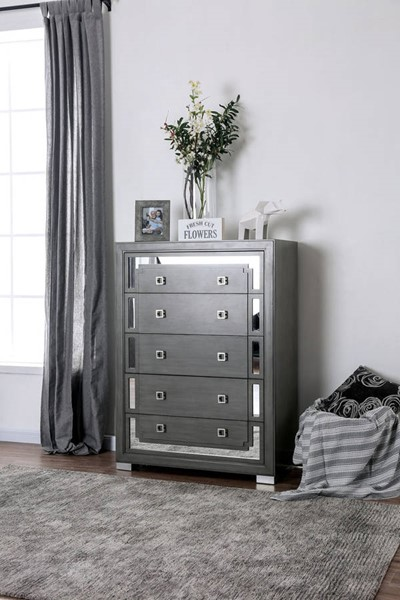 Furniture of America Jeanine Gray Chest FOA-CM7534C