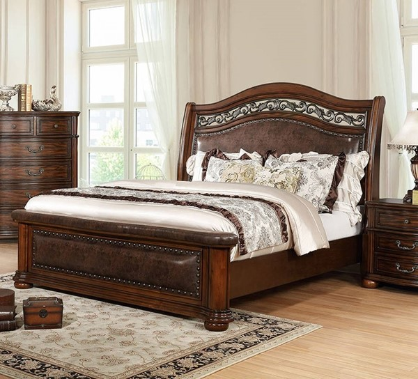 Furniture of America Janiya Brown Cherry Beds FOA-CM7539-BED-VAR