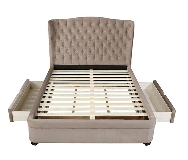 Furniture of America Aoife Taupe Full Bed FOA-CM7544F-BED