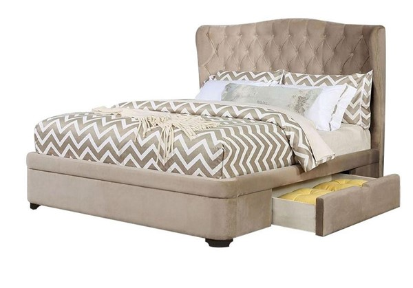 Furniture of America Aoife Taupe Queen Bed FOA-CM7544Q-BED