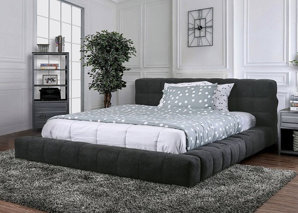 Furniture of America Wolsey Dark Gray Beds FOA-CM7545-BED-VAR