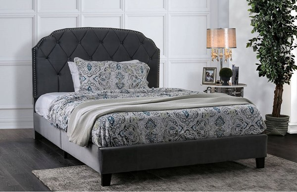 Furniture of America Osnabrock Gray Upholstered Full Bed FOA-CM7546F