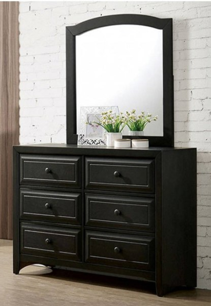 Furniture of America Kirsten Charcoal Dresser and Mirror FOA-CM7547GY-DRMR