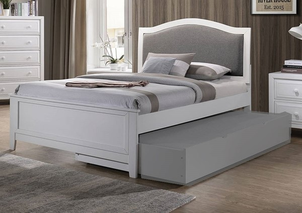 Furniture of America Kirsten White Twin Bed FOA-CM7547WH-T-BED