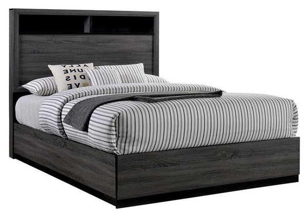 Furniture of America Conwy Gray Queen Bed FOA-CM7549Q-BED