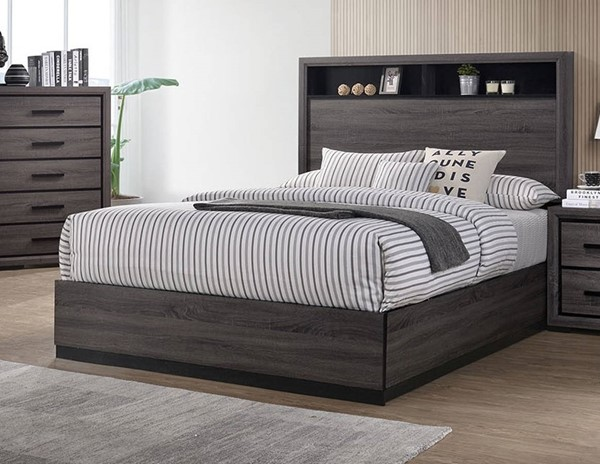 Furniture of America Conwy Gray King Bed FOA-CM7549EK-BED