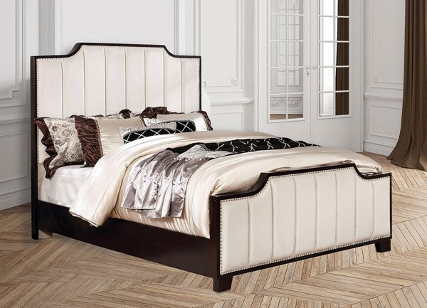 Furniture of America Espin Beige Cal King Bed FOA-CM7565BG-CK-BED
