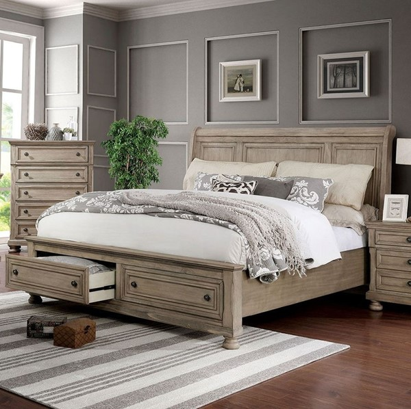 Furniture Of America Willa Gray Cal King Bed FOA-CM7568CK-BED