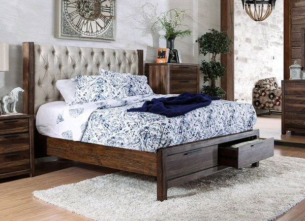 Furniture of America Hutchinson Queen Drawer Bed FOA-CM7577DR-Q-BED